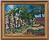 René Seyssaud (1867-1952),  Grenadiers en fleurs , Provence, huile sur toile, signée, titrée au verso, 50x65 cm, René Seyssaud, CHF600