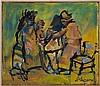 Mino MACCARI (1898-1989), Personnages, huile sur toile, signée, 30x35 cm, Mino Maccari, CHF400