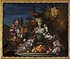 DEC 16 / Gasparo Lopez dei Fiori (1650-1732), Nature morte aux fleurs, fruits et buste, huile sur toile, 122x148 cm, Gasparo Lopez, CHF6,000