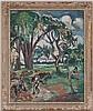 Emile Othon Friesz (1879-1949),  les bûcherons , 1940, huile sur toile, signée, monogrammée, titrée, datée 1940 au verso, 97x88 cm, Othon Friesz, CHF10,000