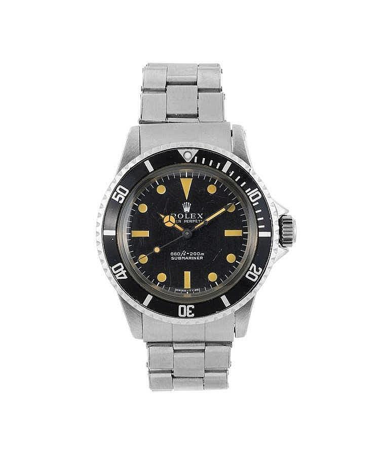 Rolex, Submariner, montre bracelet en acier automatique