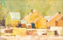 Charles Monnier@ (1925-1993), Campagne savoyarde , huile sur toile, signée, contresignée, datée 1967 et titrée au verso, 25x38 cm