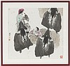 Bouviers avec leurs buffles, lavis, Xi Guang Ma, Click for value
