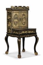 Cabinet en laque, Canton, milieu XIXe s., 141x70x70 cm
