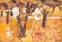 Charles Monnier (1925-1993), Automne. Provence , huile sur toile, signée, contresignée, titrée et datée 1971 au verso, 24x35 cm