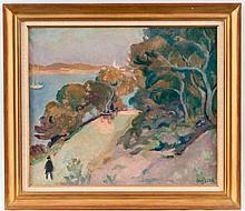 Emile Bressler@ (1886-1966), Paysage, huile sur toile, 46x56 cm