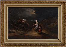 Johannes Mattheus Bogman (1822-1872), La tempête, huile sur panneau, monogrammée  JMB  et datée (18)63, 35x55 cm