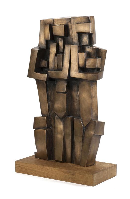 André DELESSERT (1923-2010), Trois femmes, bronze patiné, H. 55 cm (hors socle)