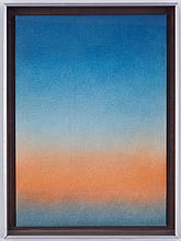 Alfred Hofkunst (1942-2004),  Ciel de Provence (Crépuscule) , crayons de couleur et graphite sur papier, signé, 70x50 cm