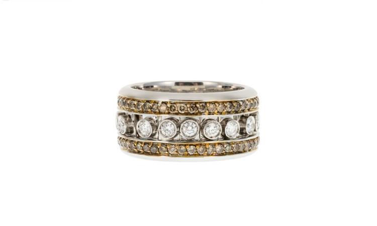 bague or diamant ligne