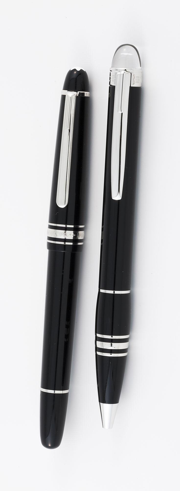 mont blanc starwalker et meisterst 252 ck paire de stylos bill