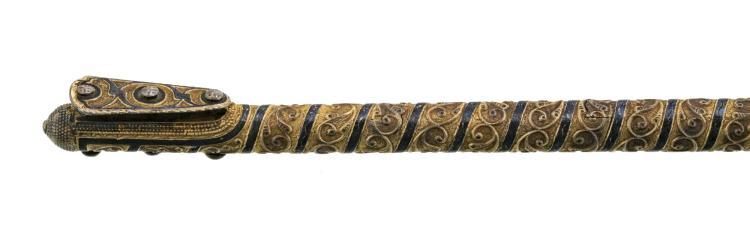 Manche de fouet, Inde, l. 50 cm