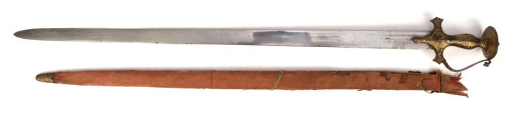 Epée droite khanda, Inde, probablement Rajasthan, l. 97,5 cm