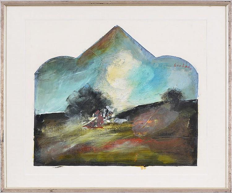 Mircea Ciobanu (1950-1991) Paysage ...