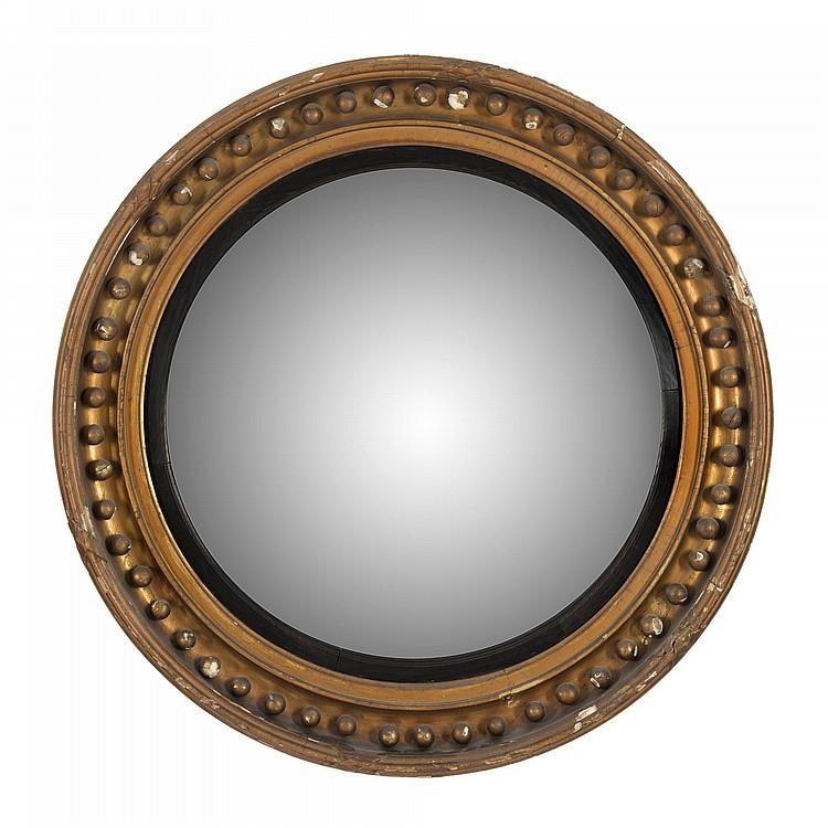 Miroir sorciere d 39 epoque regency en bois dore cadre moulu for Miroir sorciere
