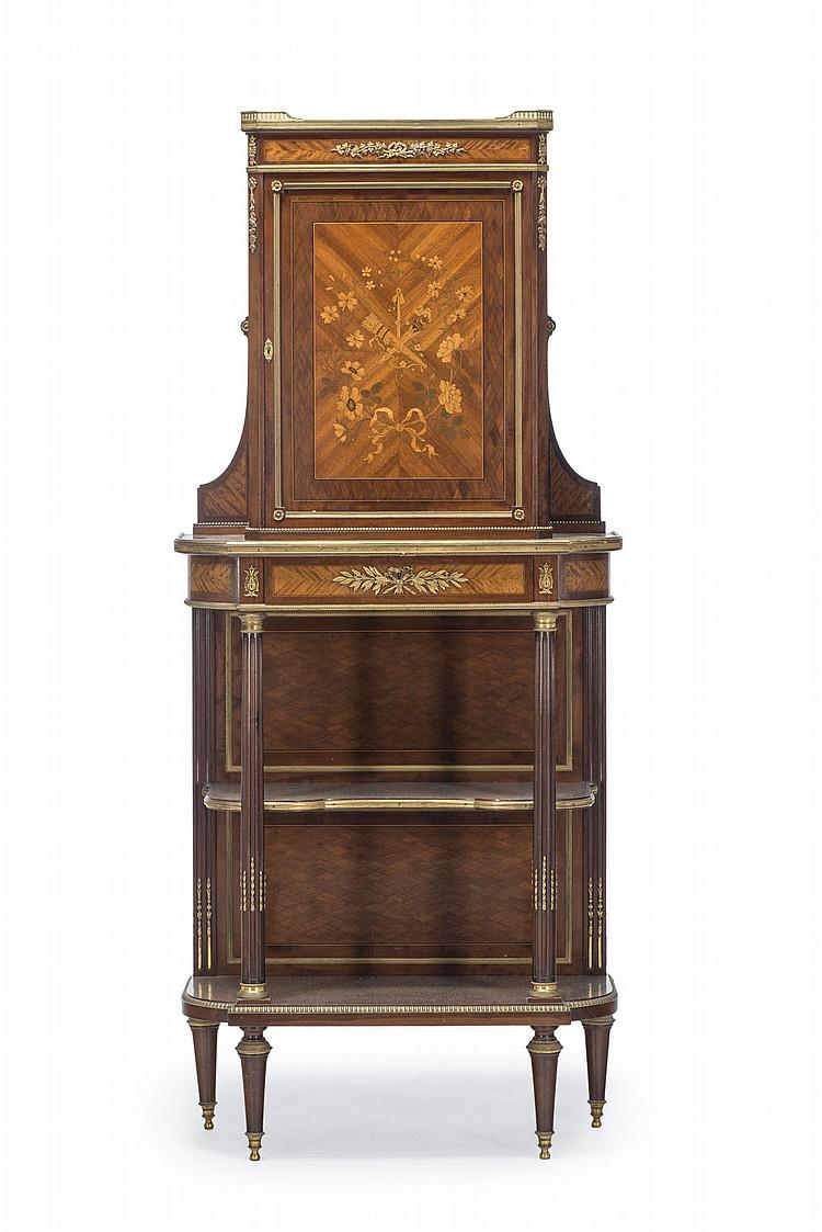 cabinet d 39 epoque napoleon iii en placage de bois de rose. Black Bedroom Furniture Sets. Home Design Ideas