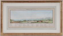 Jean Dubois (1789-1849), d' apres, Les environs de Geneve, suite de 6 lithographies aquarellees, par Freydig, 12x40 cm