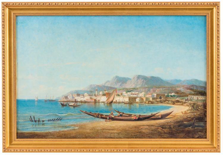 pierre emile gigoux de grandpr 1826 paysage orientalis. Black Bedroom Furniture Sets. Home Design Ideas
