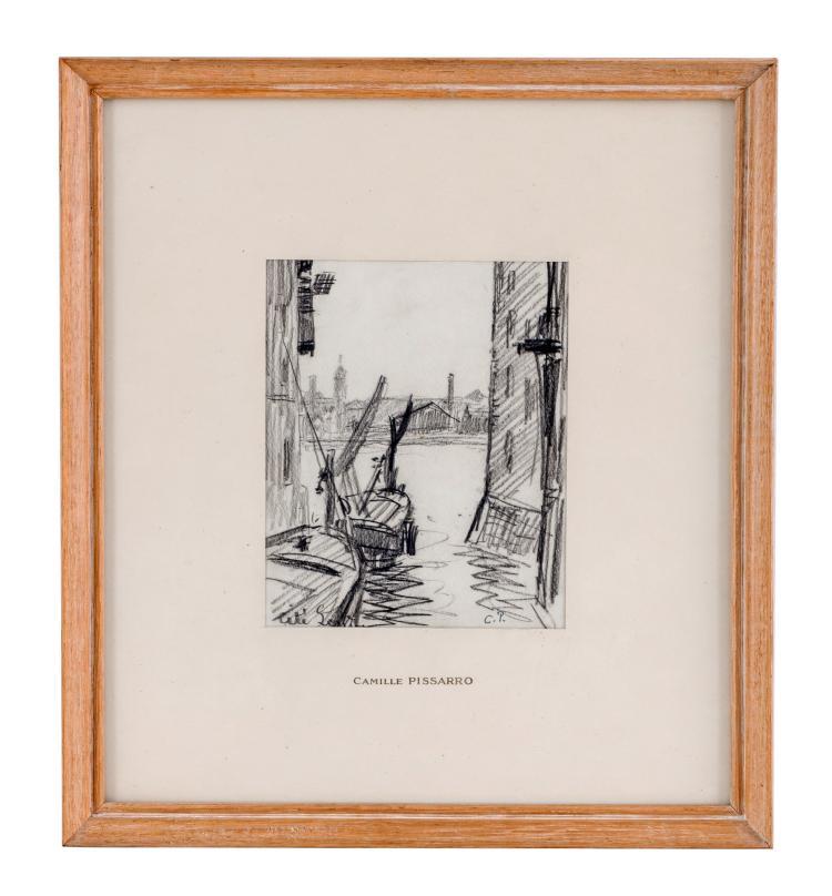 Camille pissarro 1830 1903 cit de londres vue sur le po for Porte vue 60 feuilles
