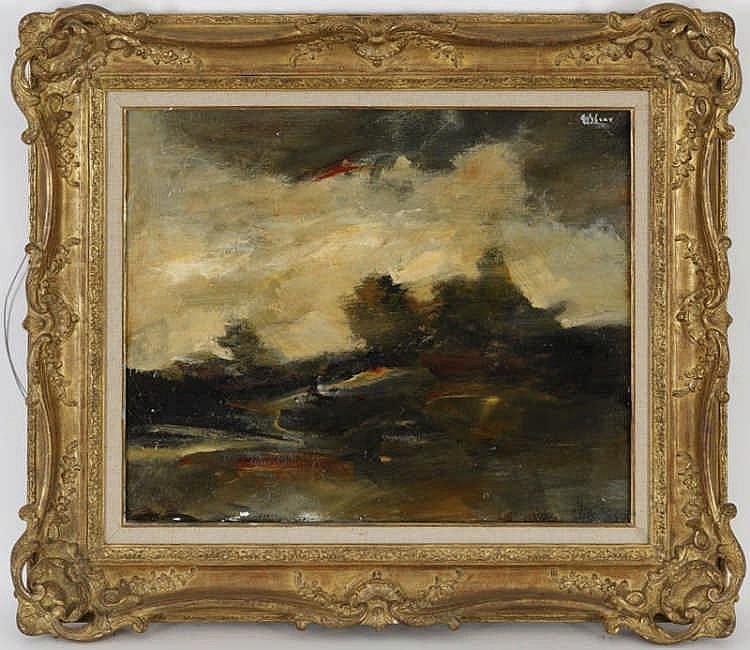 Tableaux Mircea Ciobanu  (1950-1991) Paysage automnal huile sur toile
