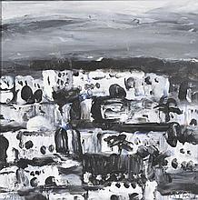 """Tableaux Luc Lathion (1931) Maghreb"""" ;Luc Lathion (1931) Maghreb"""""""" acrylique sur isorel signée et datée 2004 contresignée datée et titrée au verso 30x30 cm"""""""