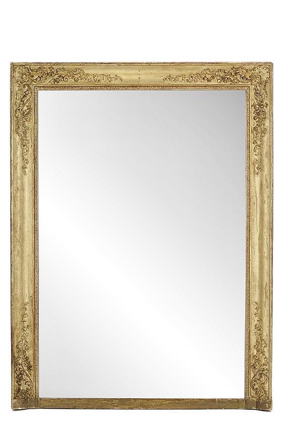 Miroir de chemin e d 39 poque restauration en bois et stuc dor for Restauration miroir