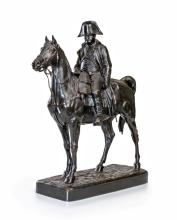 Jules Edmond Masson (1871-1932), Napoléon à cheval, h. 45 cm, long. 41 cm