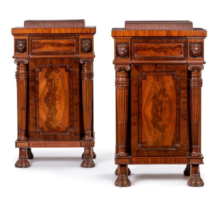 Paire de meubles d 39 entre deux d 39 poque regency 1er moiti d for Lions du meuble