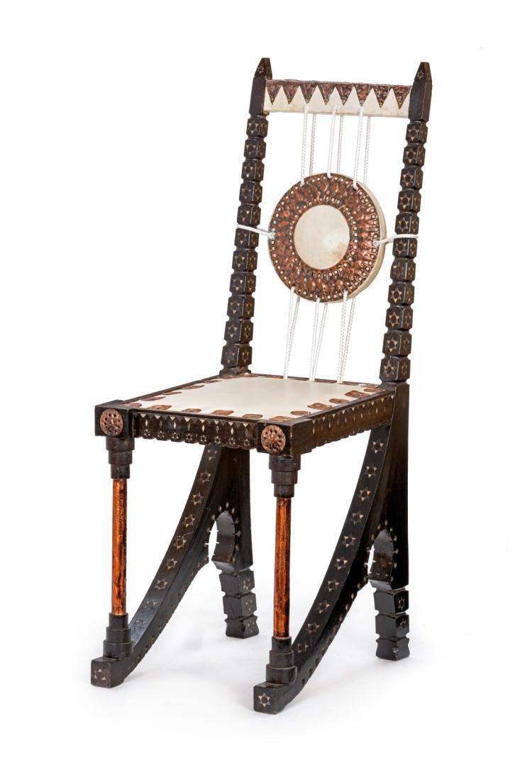 Chaise attribu e carlo bugatti circa 1890 d 39 inspiration - Chaise blanche et bois ...