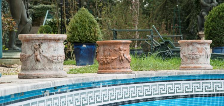 11 Pots De Jardin Xxe S En Terre Cuite De Forme Cylindriq
