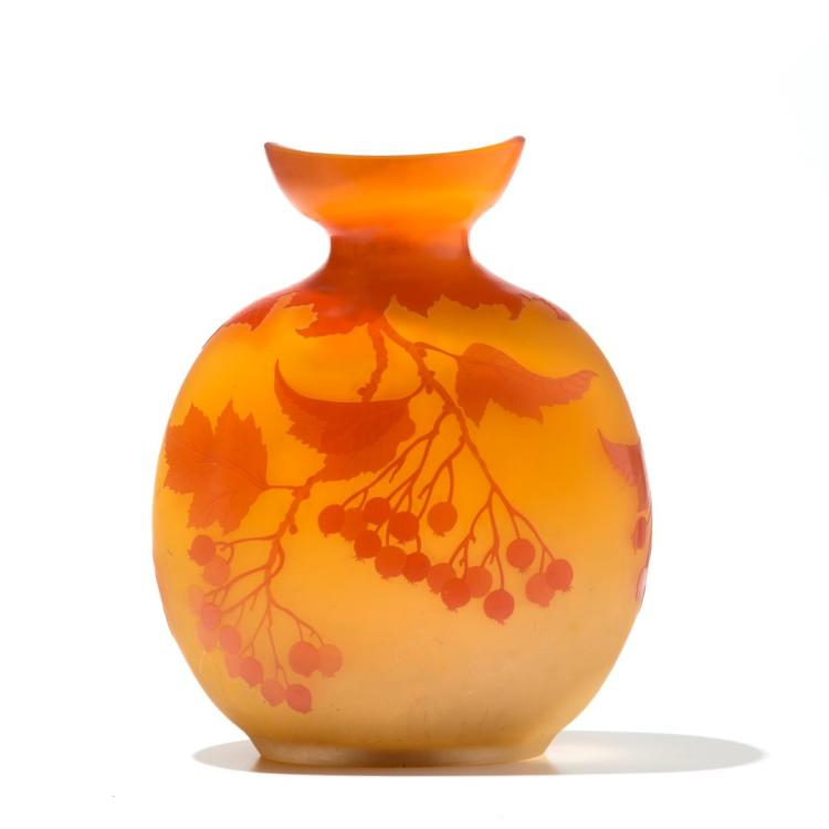 Grand vase gourde sign gall en verre multicouche d co - Deco grand vase en verre ...