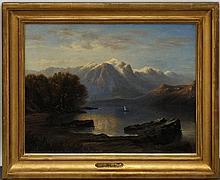 Tableaux - Jules Jequier (1834-1898) Lac de