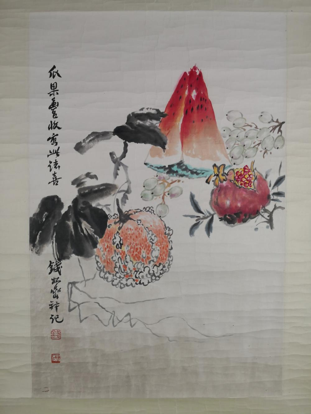 A CHINESE PAINTING BY QIAN SONGYAN