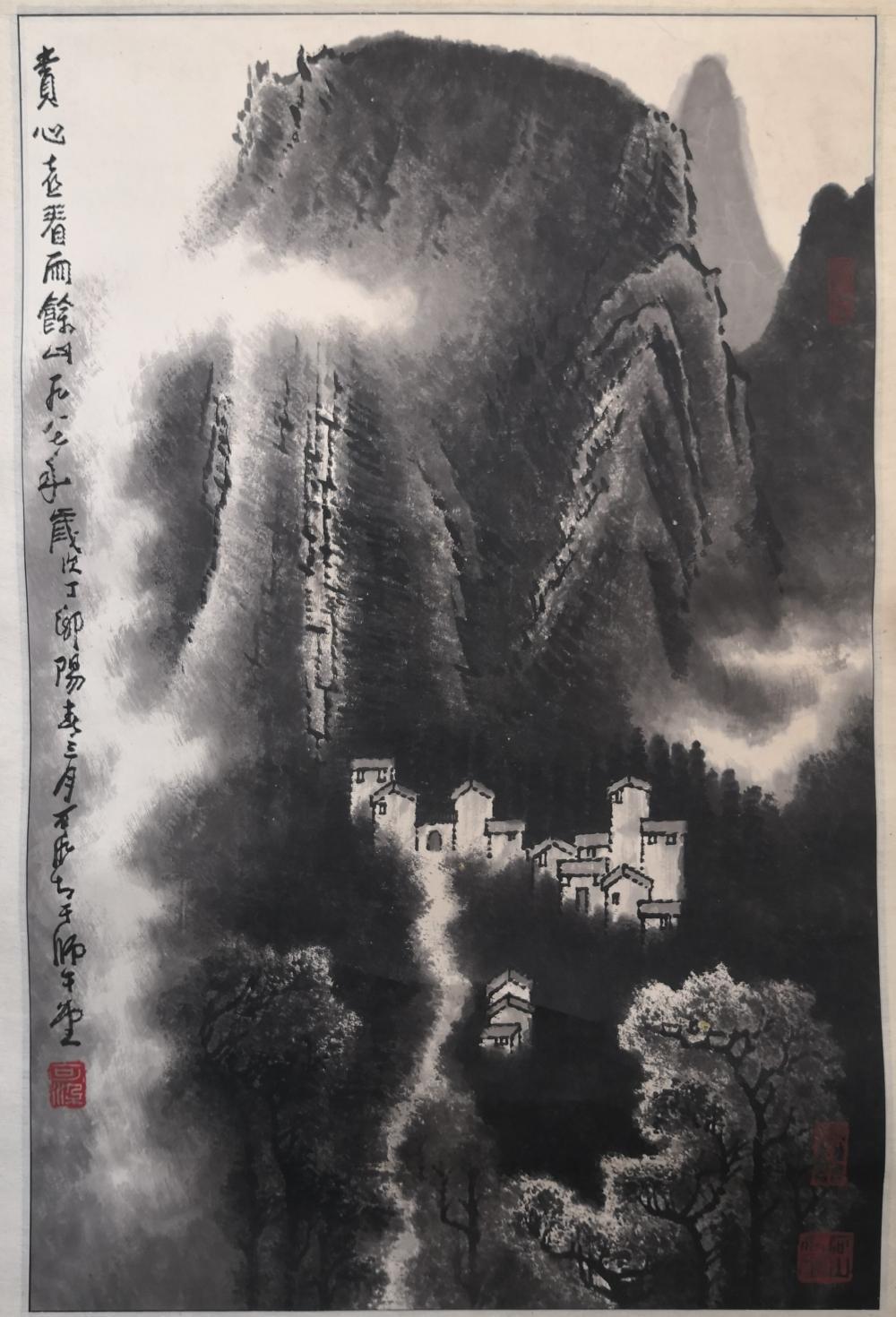 A CHINESE PAINTING BY LI KERAN