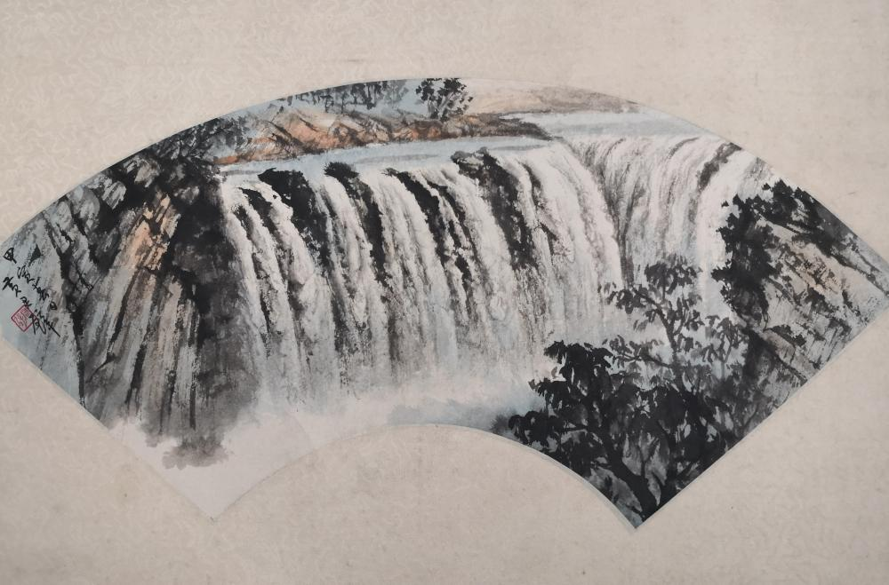 A CHINESE PAINTING BY HUANG JUNBI
