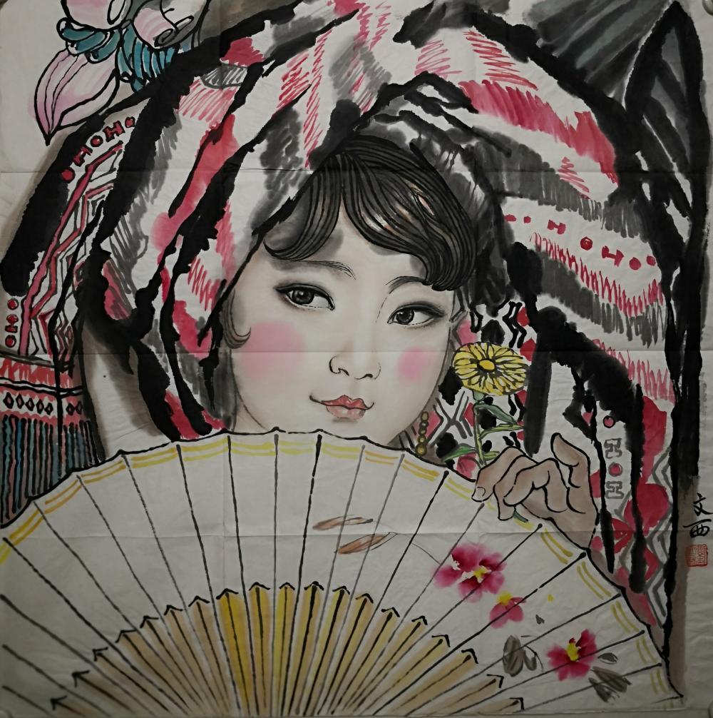 A CHINESE PAINTING BY LIU WENXI