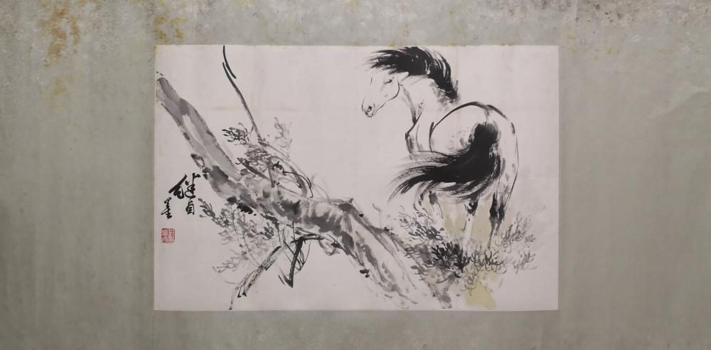 A CHINESE PAINTING BY LIU JIYOU
