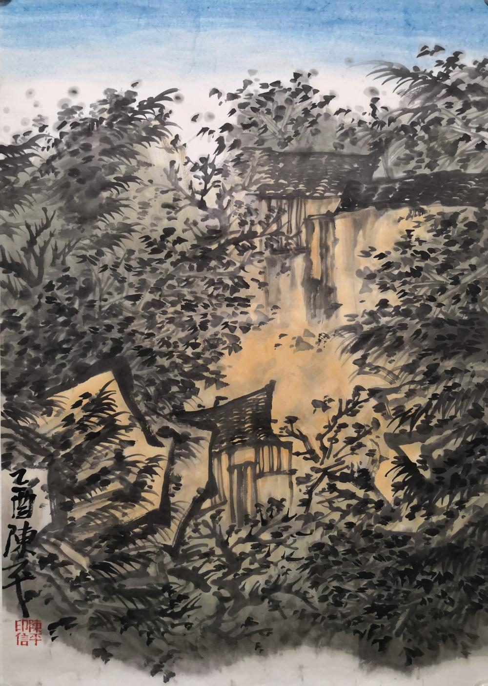 A CHINESE PAINTING BY CHEN PING