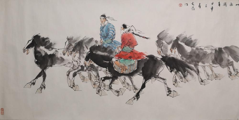 A CHINESE PAINTING BY LIU DAWEI