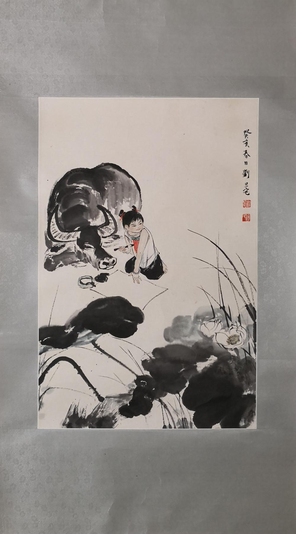 A CHINESE PAINTING BY LIU DANZHAI