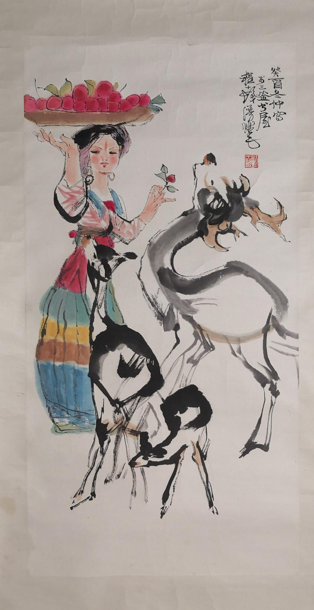A CHINESE PAINTING BY CHENG SHIFA