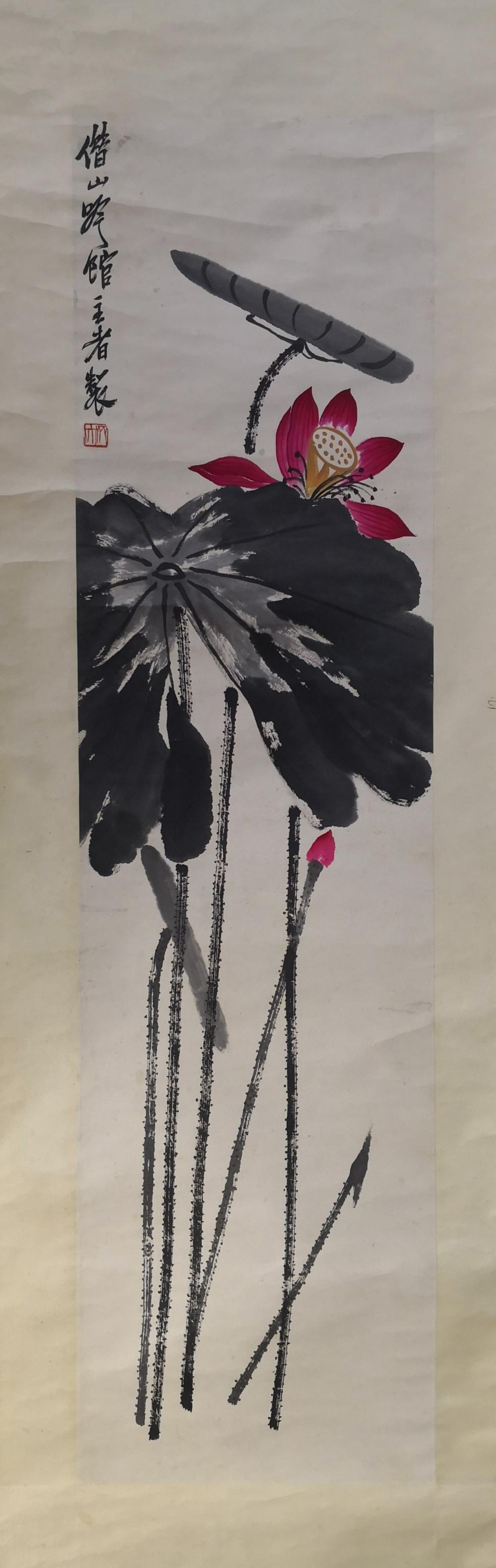A CHINESE PAINTING BY QI BAISHI