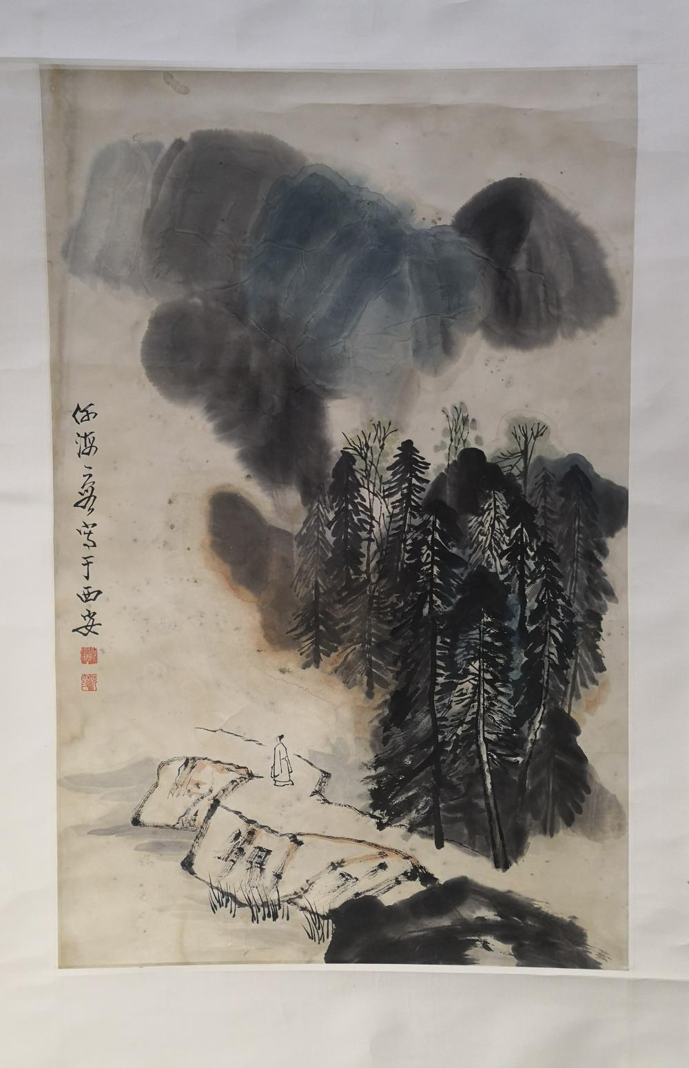 A CHINESE PAINTING BY HE HAIXIA