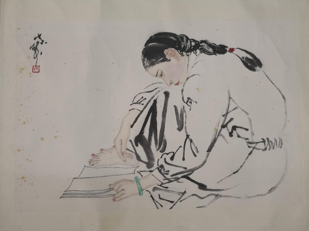 A CHINESE PAINTING BY HE JIAYING