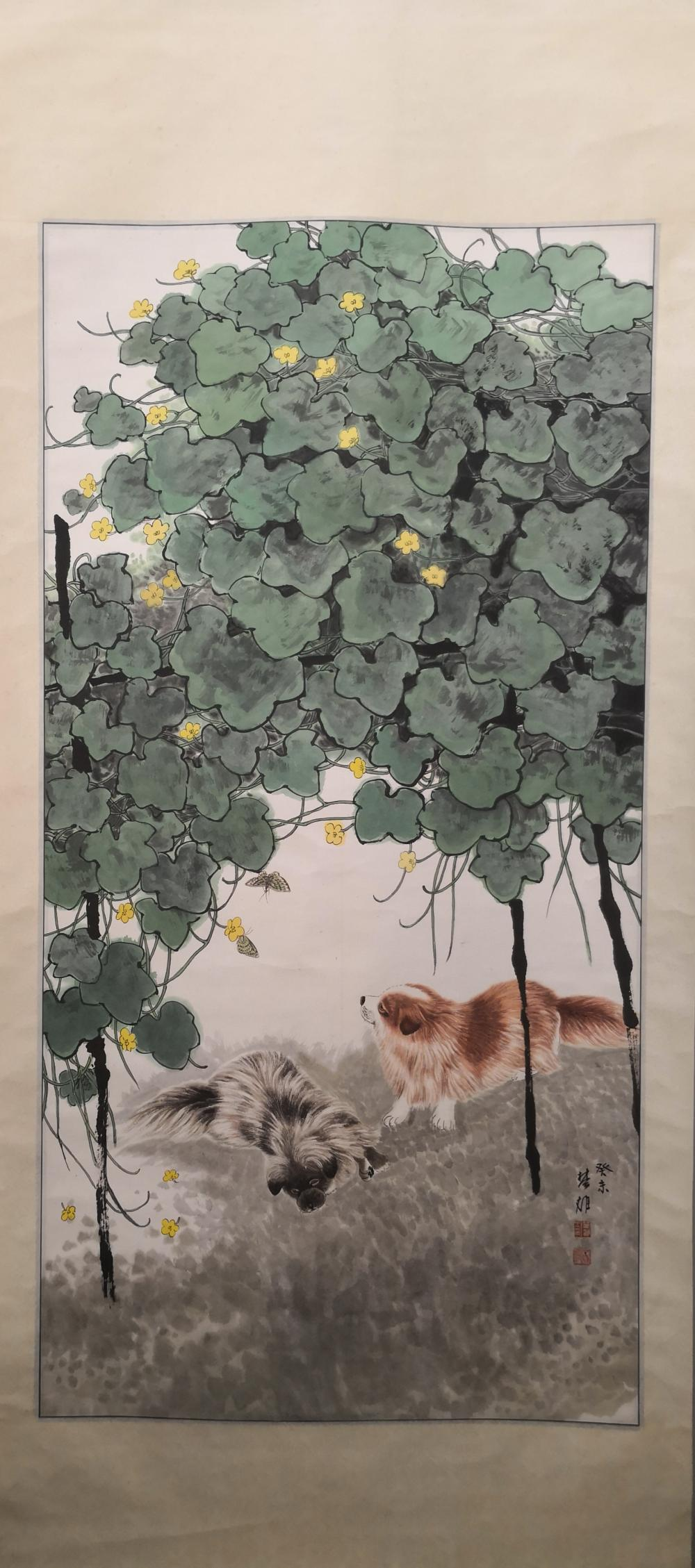 A CHINESE PAINTING BY FANG CHUXIONG