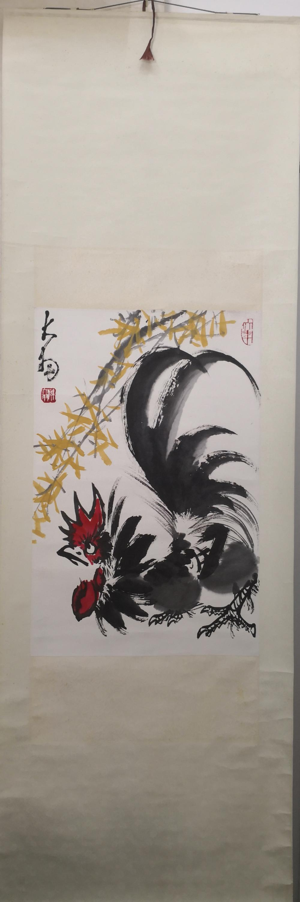 A CHINESE PAINTING OF ROOSTER BY CHEN DAYU