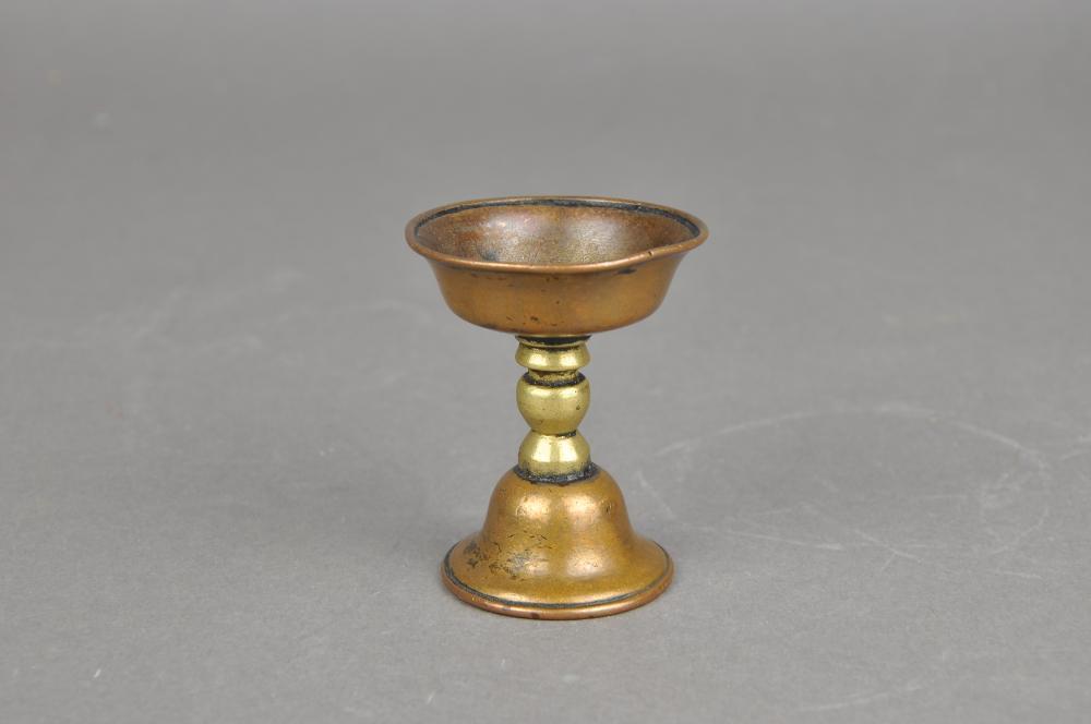 A Bronze Oil Lamp