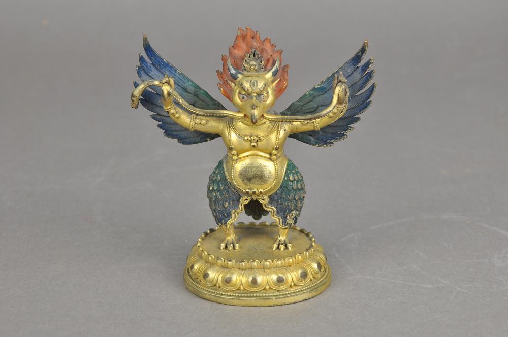 A Gilt-Bronze Garuda