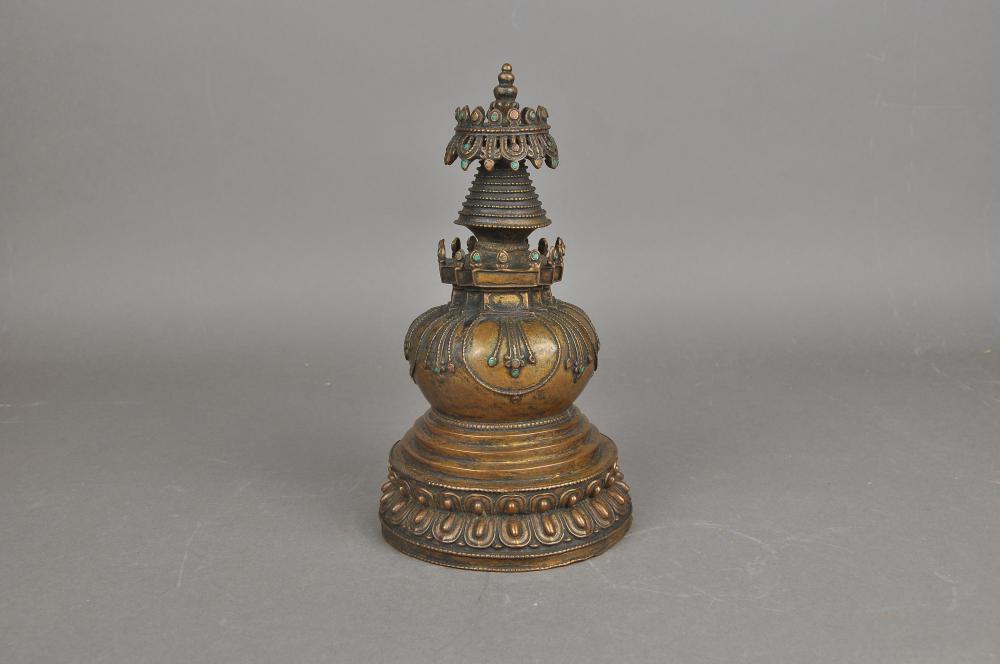 A Bronze Tibetan Tower