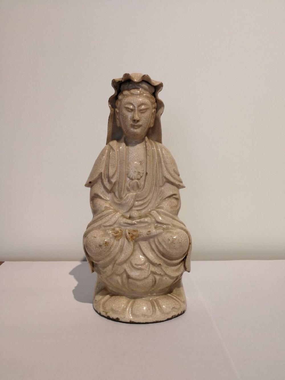 17th C 'ZhangZhou' Procelain Buddha Statue